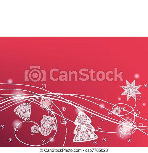winter decorative background - csp7785023