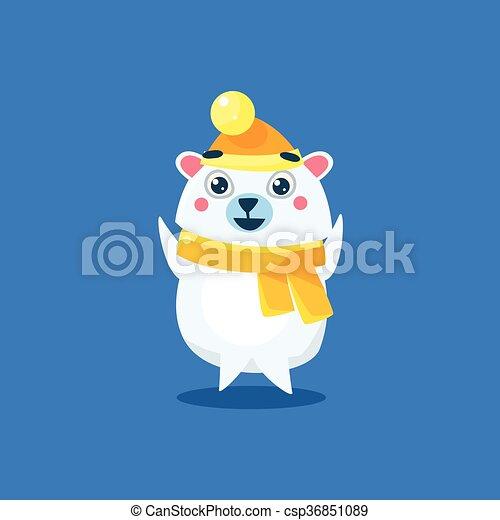 Winter Dressed Polar Bear - csp36851089