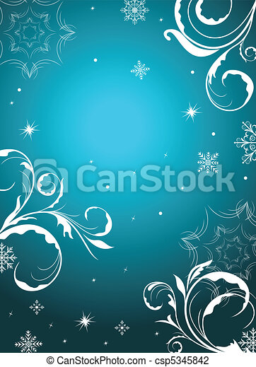 winter floral background - csp5345842