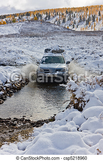 Winter ford - csp5218960