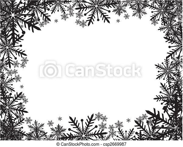 winter frame - csp2669987