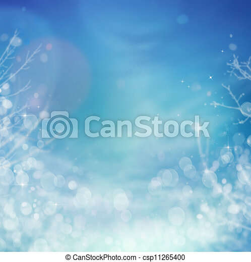 Winter frozen background - csp11265400
