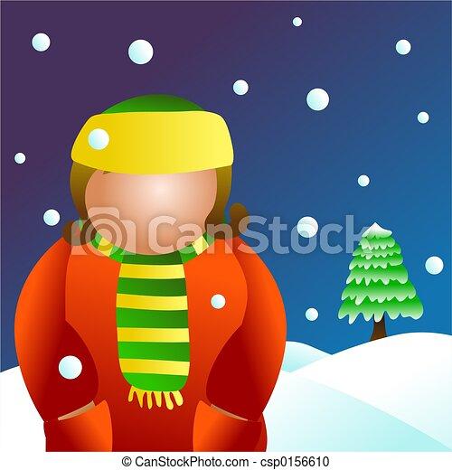 winter girl - csp0156610