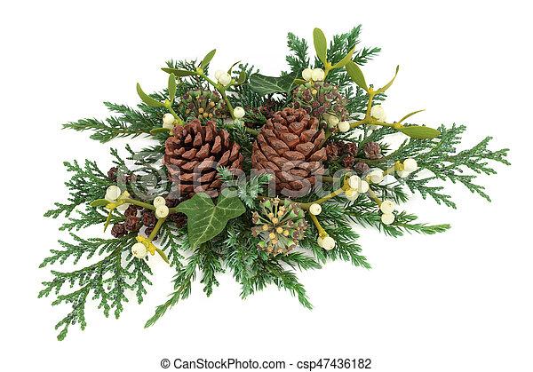 Christmas Greenery Images.Winter Greenery Decoration