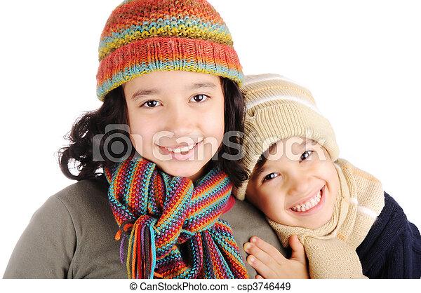Winter happiness  - csp3746449