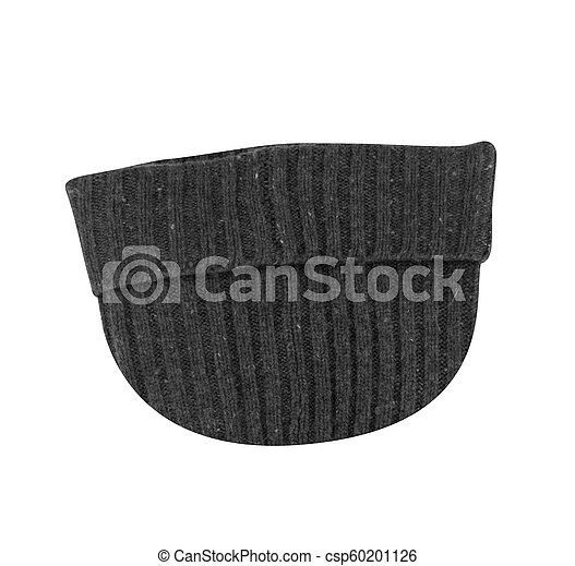 winter hat isolated on white - csp60201126