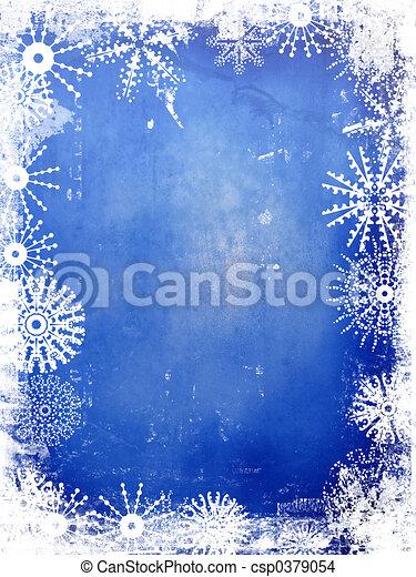 Winterhintergrund - csp0379054