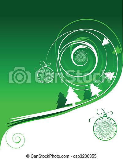 Winter holiday, christmas card - csp3206355