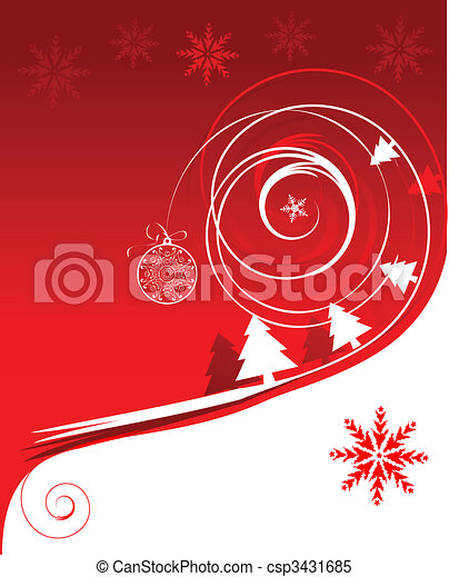 Winter holiday, christmas card - csp3431685
