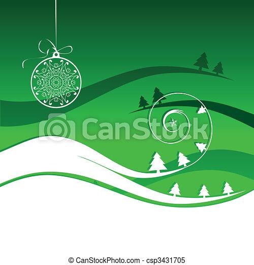 Winter holiday, christmas card - csp3431705