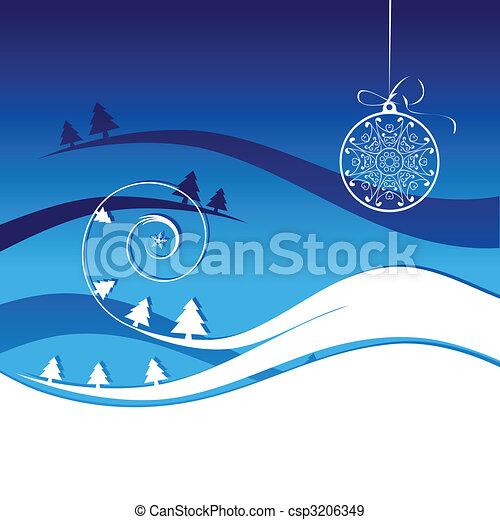 Winter holiday, christmas card - csp3206349
