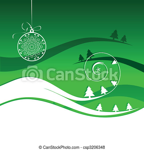 Winter holiday, christmas card - csp3206348
