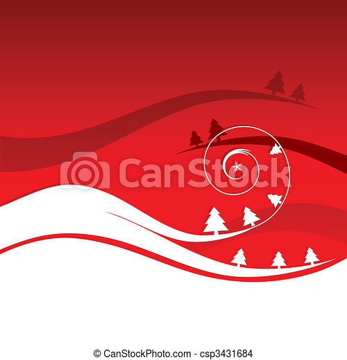 Winter holiday, christmas card - csp3431684