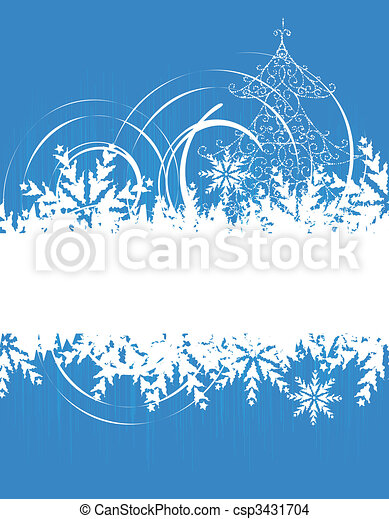 Winter holiday, christmas card - csp3431704