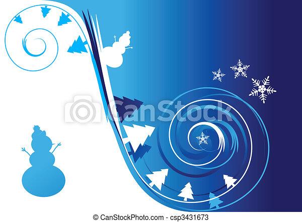 Winter holiday, christmas card - csp3431673