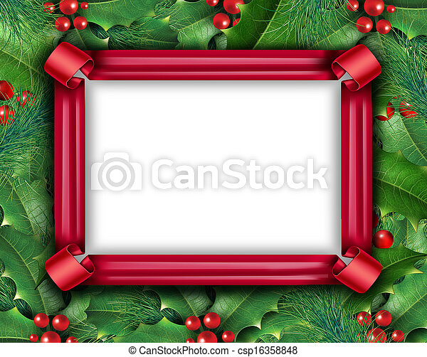 Winter Holiday Frame - csp16358848