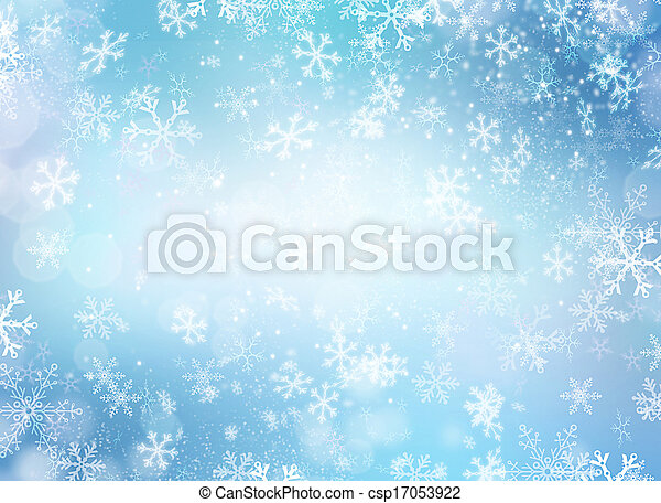Winter Holiday Snow Background. Christmas Abstract Backdrop - csp17053922
