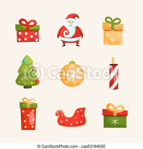 Christmas Holidays Icon.Winter Holidays Icons Collection