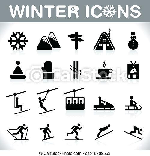 WINTER ICONS - csp16789563