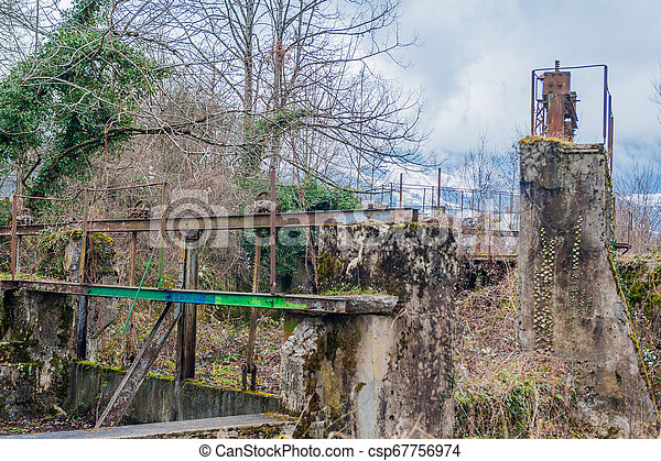 Winter in a small Town in the French Savoy - csp67756974