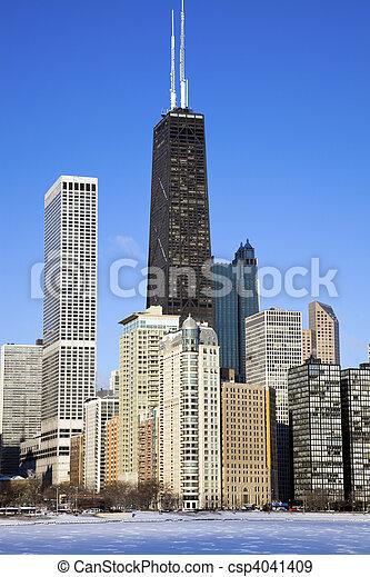 Winter in Chicago - csp4041409