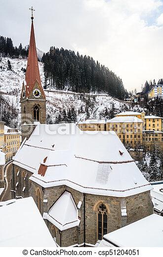 Winter in ski resort Bad Gasteinl, Austria - csp51204051