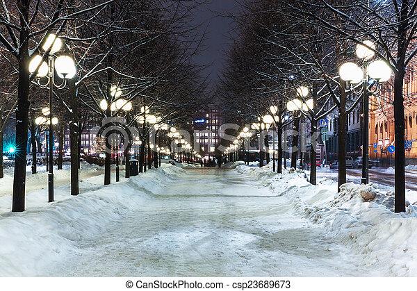 Winter in Stockholm, Sweden - csp23689673