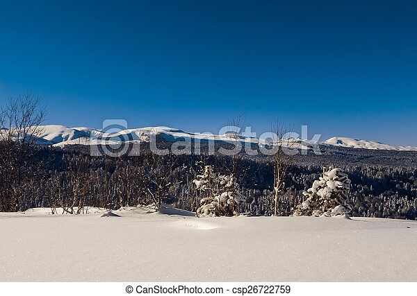 Winter in the mountains - csp26722759