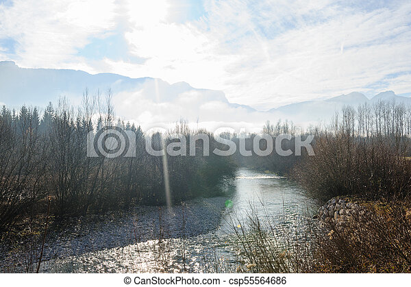 Winter in the Savoy Area in Southern France - csp55564686