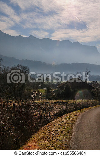 Winter in the Savoy Area in Southern France - csp55566484