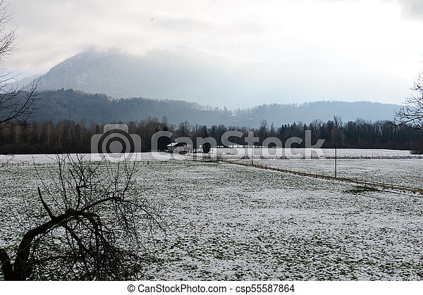 Winter in the Savoy Area in Southern France. - csp55587864