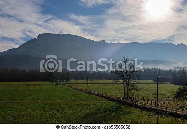 Winter in the Savoy Area in Southern France - csp55565058