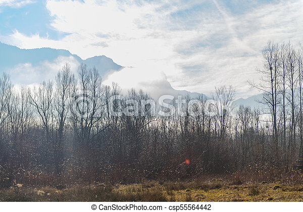 Winter in the Savoy Area in Southern France - csp55564442