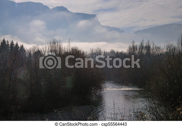 Winter in the Savoy Area in Southern France - csp55564443