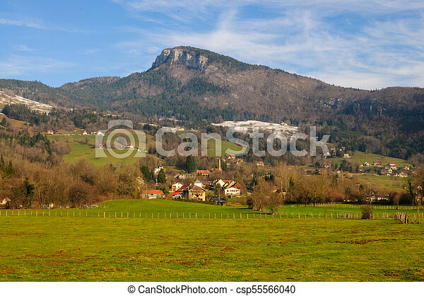 Winter in the Savoy Area in Southern France - csp55566040