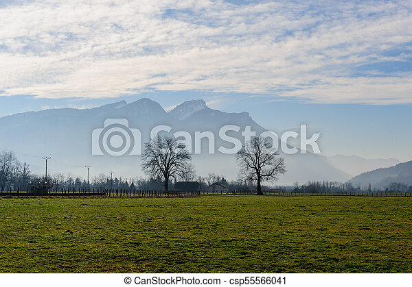Winter in the Savoy Area in Southern France - csp55566041