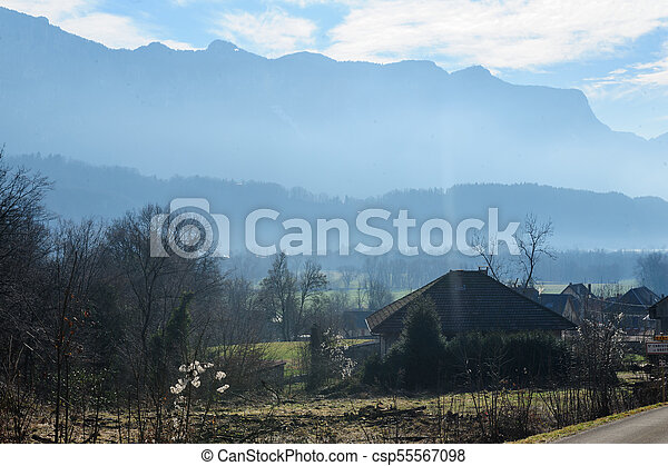 Winter in the Savoy Area in Southern France - csp55567098