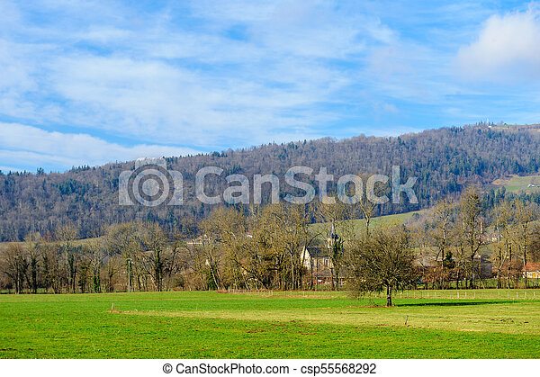 Winter in the Savoy Area in Southern France - csp55568292
