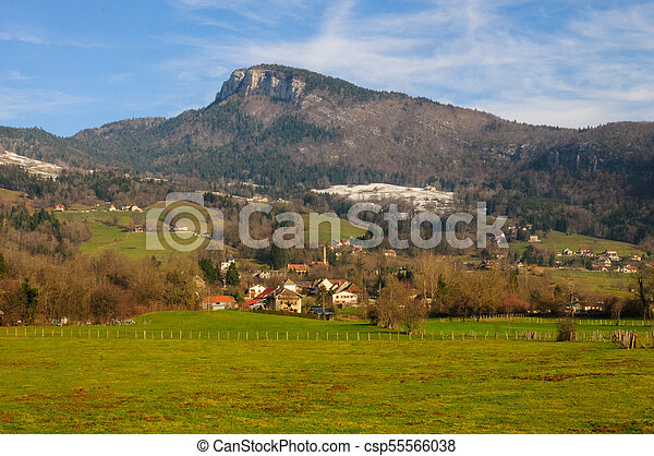 Winter in the Savoy Area in Southern France - csp55566038