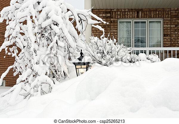 Winter in town - csp25265213