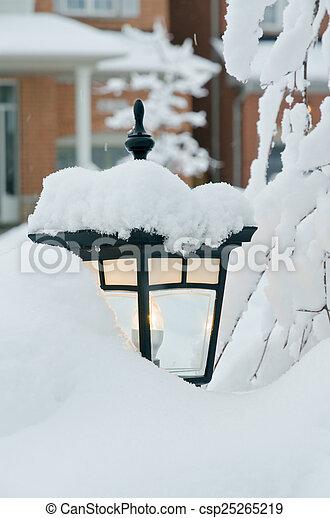 Winter in town - csp25265219
