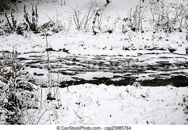 Winter in town - csp23985764