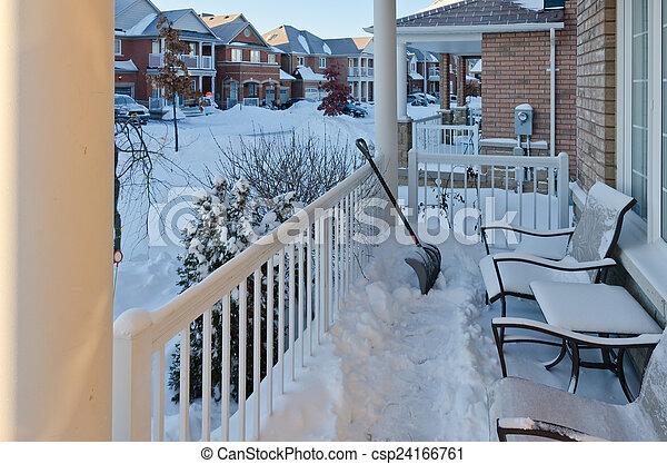 Winter in town - csp24166761