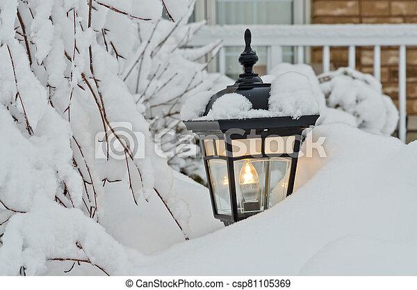 Winter in town - csp81105369