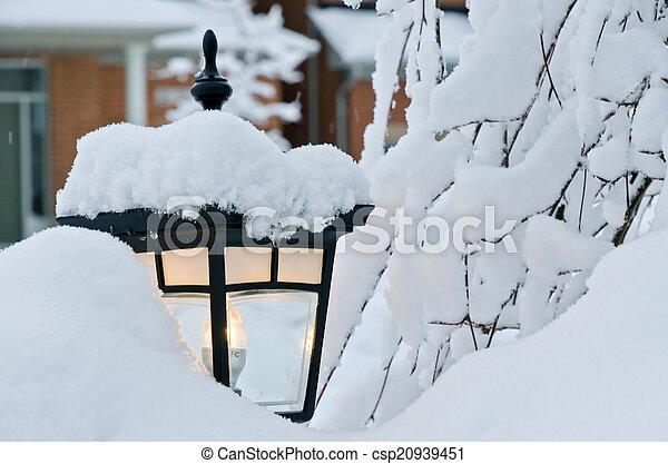 Winter in town - csp20939451