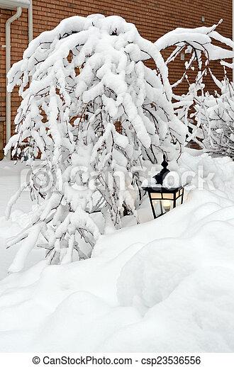Winter in town - csp23536556