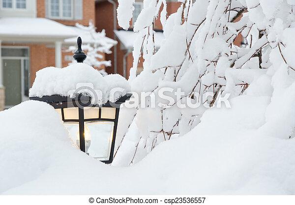 Winter in town - csp23536557