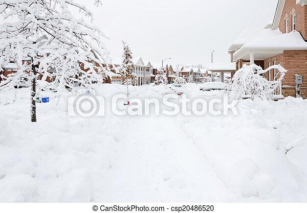 Winter in town - csp20486520