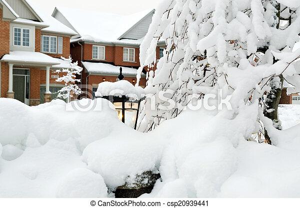 Winter in town - csp20939441