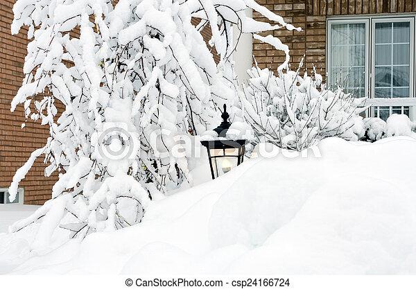 Winter in town - csp24166724